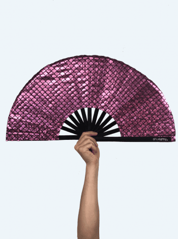 Pink Mermaid Fan
